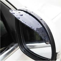 espelhos hyundai venda por atacado-Universal Flexib PVC Espelho Retrovisor Chuva Sombra Rainproof Car back espelho sobrancelha capa de chuva para ford focus 2 3 Hyundai solaris Mazda CX-5