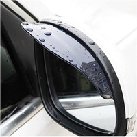 Wholesale Rearview Mirror Mazda - Universal Flexib PVC Rearview Mirror Rain Shade Rainproof Car back mirror eyebrow rain cover for ford focus 2 3 Hyundai solaris Mazda CX-5