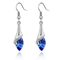 Wholesale Long Womens Earrings - Austrian Crystal Drop Earrings For Womens Made With Swarovski Elements Long Dangle Earring Vintage Fashion Jewelry 2001