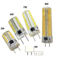 Wholesale Bi Pin Bulbs - Dimmable T5 G8 Bi-Pin Candle Chandelier 3W 4W 7W 10W Bulb Crystal Lamp Daylight Light 3014 5730 SMD LED White Warm AC 120V 220V (pack of 10)