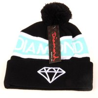 Wholesale Diamond Pom Beanies - Diamond Supply Beanie With pom Beanies Hip Hop Snapback Hats Custom Knitted Cap Snapbacks free shipping