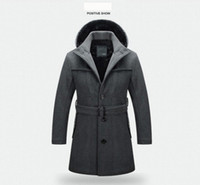 Wholesale brand trench wool for sale - Group buy Size S XL Fashion Brand Winter Mens Jackets Coats Mens Winter Clothes Long Men Wool Coat High Quality Trench Coat