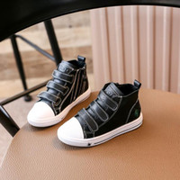 Wholesale Toddler Size 12 Leather Shoes - famous designs children boots leather comfortable lining shoes pink girls black boys unisex sneaker booties for kid toddler size