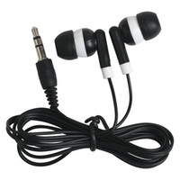 Wholesale hotel gifts - Universal Cheapest Disposable earphones headphones low cost earbuds for Theatre Museum School library,hotel,hospital Company Gift