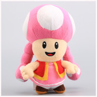 """Wholesale Toadette 17cm - 6.5"""" 17cm Toadette Plush Toy Super Mario Plush Toys Mushroom Toadette Stuffed Plush Toy For Baby Gifts"""