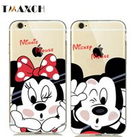 Wholesale Case Cover Minnie Iphone - Cute Cartoon Minnie Mickey Mouse Soft Clear Case Cover for iphone8 5S SE 6 6S 7 Plus Rubber Silicone Case Donald Daisy Duck