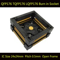 QFP176 TQFP176 LQFP176 Burn in Socket Pin Pitch 0.5mm Open Frame OTQ-176-0.5-06 Adattatore di programmazione Adapter Socket Adapter