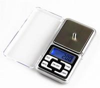 elektronik mücevher pulları toptan satış-Mini Elektronik Cep Ölçeği 200g 0.01g Takı Elmas Ölçeği Denge Ölçeği Perakende Paketi ile LCD Ekran