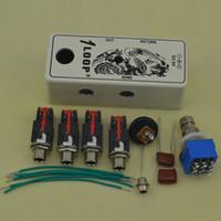 mini effets de guitare achat en gros de-NOUVEAU DIY Mini True Bypass Looper Pédale D'effet Guitare Pédale D'effet Looper Switch Kits Blanc