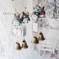 Wholesale Wind Shops - Japanese - style fun Totoro wind chimes creative resin crafts shop door decoration home decoration creative small gifts