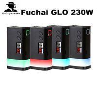 Wholesale Ecigarette Led - 100% Original Sigelei Fuchai GLO 230W Mod Powered by Dual 18650 Batteries Ecigarette Box Mod Button LED & Bottom LED Strip