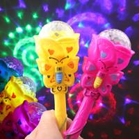 küçük renkli lambalar toptan satış-Küçük renkli flaş yıldız projeksiyon lambası küçük sihirli peri değnek satan çocuk oyuncakları hediye