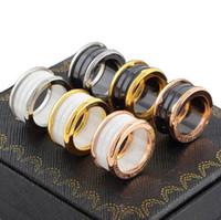 feines paar ring großhandel-Hot klassische Marke bv Keramikringe Edelstahl Liebesring breit Keramikring für Frauen Männer Paare Ehering feine Ringe Großhandel