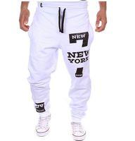 calça de suor folgado venda por atacado-Atacado-Homens Dance Baggy Harem Pants Calças Suor Hip Hop Mens Designer Calças Streetwear Esporte Basculador Calças de Ginástica Roupas Plus Size