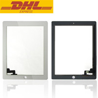 Wholesale Ipad 2nd Digitizer - For Ipad 2 Touch Screen Panel Digitizer For iPad 2 2nd Gen Tablet DHL Freeshipping Tablet LCDs & Panels Accessories In Stock