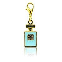 tarjeta de esmalte al por mayor-Moda flotante encantos chapado en oro 4 color esmalte tarjeta broche de langosta aleación encantos diy colgantes accesorios de la joyería