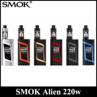 Wholesale Tank Refill - SMOK Alien Kit With 220W Alien 220 Mod 3ml TFV8 Baby Tank Top Refill System DHL