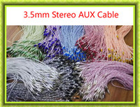Wholesale Mini 4p - AUX 3.5mm audio cable AUX Audio Cable Cucurbitauxiliary cord Male To Male Stereo Car Extension Audio Cable For MP3 Car Phone 4P