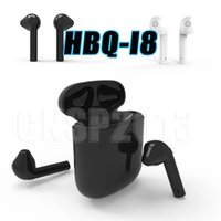 Wholesale White Earbuds Headphones - wireless bluetooth HBQ I8 Earphone for Android Samsung HTC Sony Apple iPhone Twins Mini Headphone Stereo Earbuds 4.1 Headset