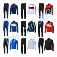 Wholesale Black Jacket Xl - Ajax Jacket 17 18 Real Madrid AC Milan Inter Man United Dort munds Track Soccer Jogging Football Men Zipper jackets sportswea set tracksuit
