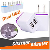 Wholesale Travel Ac Power Adapter Ipad - Metal Dual USB Wall Charger Travel Charger US EU Plug Universal Home AC Power Adapter 2 Ports For iPhone X 8 Samsung S8 Plus Smartphone iPad