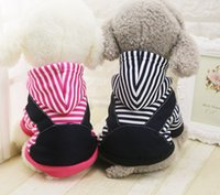 Wholesale Xxl Dog Jumpsuits - Autumn & Winter Pets Stripe Warm Jumpsuit Small Medium Dogs Christmas Halloween New Year Party Clothes (XS-XXL)