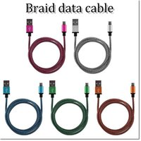 Wholesale Usb Data Cable Dhl - brand new high quality 1m 3ft braid usb data cord strongable usb charging line sync usb data cable for samsung htc LG honnor DHL free
