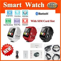 Barato Relógio Tempo De Execução-5pcs Bluetooth Hands-free Call Wristwatch U8 U Watch Sport Running Timing Sim Bluetooth Relógios inteligentes para iPhone Samsung Android Smartphones