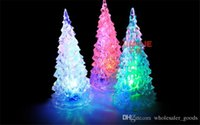 Wholesale Beautiful Party Decorations - Pretty New LED Lamp Light Crystal Decoration Unique Beautiful Home Party Gift Decor Xmas Christmas Tree