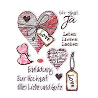 Umweltfreundliches Tagebuch Kaufen -Großhandels-1PCS Umweltfreundlich Transparent Stempel Red Heart Clear Stamp für DIY Scrapbooking Fotoalbum Tagebuch-Dekoration Supplies