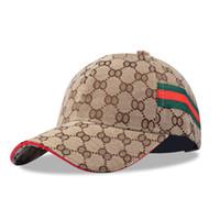 Wholesale Peak Shipping - Free Shipping 2017 Spring Summer Cotton Baseball Cap Women Men Fashion Sport Plaid Design Peaked Cap Outdoor Travel Sun Hat
