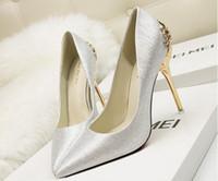 ingrosso tacchi in cristallo rosso argento dorato-Nuove donne sexy di modo strass argento scarpe da sposa piattaforma pompe rosse inferiori tacchi alti scarpe di cristallo oro nero rosa