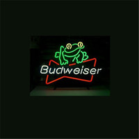 NEON SIGN ДЛЯ BUDWEISER BEER FROG Custom Store Дисплей Пивной бар Pub Club Lights Signs Shop Decorate Real Glass Tube Bulbs