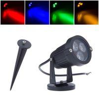 Wholesale Green Led Spot Lights - 9W LED Lawn Light Lamp 12V 110V 220V Outdoor Waterproof IP65 Green Yellow Red Blue White Garden Lawn Spot Flood Lighting