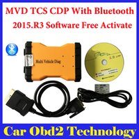 Wholesale Code Reader For Vw Audi - DHL Shipping ! (3PCS) 2015.R3 Mulit Vehicle Diag MVD With Bluetooth Same Function As TCS CDP Pro For Cars amd Trucks 3 IN1 + Carton box