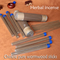 Wholesale Chinese Sandalwood - 25g barrel 60pcs chinese incense natural wormwood incense sticks herb expel insects clear air fragrance room