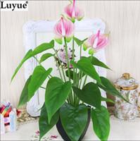 compra jarrones de flores de sedapcs pu verdadero toque de ltex flores de