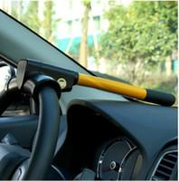 hırsızlık önleyici araba tekerlek kilitleri toptan satış-T-kilit T-şekilli kilit direksiyon simidi kilidi araba direksiyon araba tekerlek anti-otomobil hırsızı tüm arabalar için Uygundur