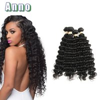 Cheveux Malais Vierges 4pcs 6a Pas Cher-Annabelle Virgin Hair 6a Brazilian Deep Curly Virgin Hair 4pcs Traitement des armures malaisiennes Extensions de cheveux Bohemian Human