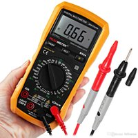 Wholesale Resistance Voltage - Digital Multimeter AC DC Voltage Current Resistance Capacitance Frequency and Temperature Meter with Backlight New +B