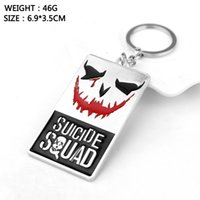New Suicide Squad Keychain Alloy Metal Key Chains Pendentif Boys Girls Movie Action Figure Porte-clés Cadeau