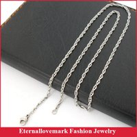 Wholesale Stainless Steel Twist Chain - Fashion stainless steel necklace jewelry latest 2.2mm twist link chain design for biker and men