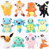 Wholesale pokemon toy balls online - Poke Plush Dolls Poke Ball cm Stuffed Pikachu Plush Toys Leafeon Glaceon Eevee Jolteon Vaporeon Flareon Espeon Umbreon Stuffed Doll OTH566