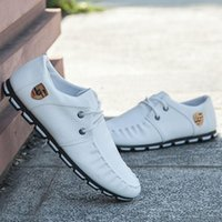 Wholesale Leather Boats - 2016 summer new trends in europe and america british size farmer boat shoes stylish and comfortable shoes mens doug flatties EX
