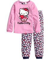 Wholesale Sets For Babys - 2017 Winter Babys Sleepwear Cotton Boys Pyjamas Girls cartoon pajama sets kids holiday gifts for 2~7 years old