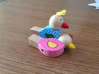 Wholesale Baby Instruments Xylophone - Wholesale-1Pcs Cartoon bird whistle baby jewelry pendant wooden musical toys wooden toys toy musical instruments