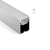 Wholesale 12v pendant light resale online - 100 X M sets Office lighting aluminum profile for led and Al6063 led channel profile with power storage for suspension pendant lamps