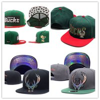 Wholesale Red Buck - 2017 new Milwaukee Adjustable Bucks Snapback Hat Thousands Snap Back Hat For Men Basketball Cap Cheap Hat Adjustable men women Baseball Cap