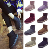 Wholesale Sexy Flat Comfortable Shoes - 8 Colors Winter Snow Boots sexy comfortable womens Winter warm Boots cotton-padded shoes Women fashion boots