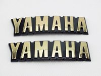 Wholesale tank stickers for motorcycles for sale - ABS D Fuel Oil Tank Badge Gold Emblems Decal Sticker For Yamaha Motorcycle Pair